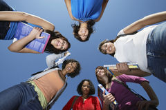 Female College Students Standing In Circle Royalty Free Stock Photo