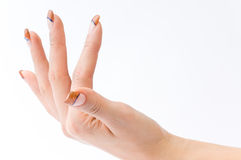 Female colored fingernails Stock Photos