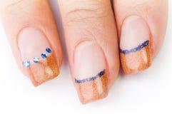 Female colored fingernails Stock Photography