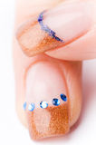 Female colored fingernails Royalty Free Stock Photography