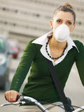 Female commuter Royalty Free Stock Photos