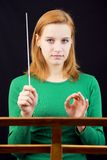 Female conductor Stock Image