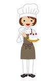 Female Confectioner Stock Photos