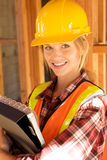 Female Constructin Worker Stock Image