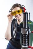 Female construction Royalty Free Stock Photo