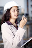 Female construction engineer Stock Photo
