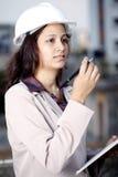 Female construction engineer Stock Photo