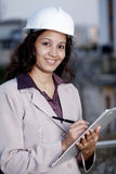 Female construction engineer Stock Image