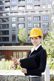Female construction engineer Royalty Free Stock Photos