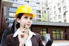 Female construction engineer Royalty Free Stock Image