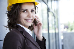 Female construction engineer portrait Stock Photo