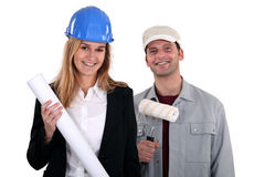 Female construction manager Royalty Free Stock Photo