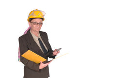 Female construction supervisor Royalty Free Stock Image