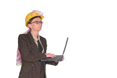 Female construction supervisor Royalty Free Stock Photos