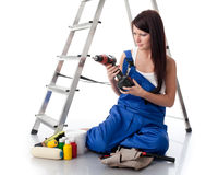Female construction worker Royalty Free Stock Photography