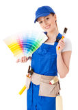 Female construction worker. Stock Photography
