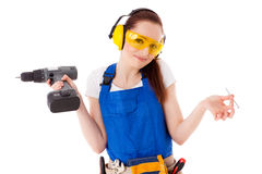 Female construction worker. Stock Photos