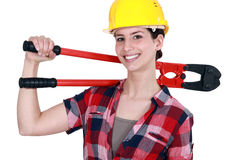 A female construction worker Royalty Free Stock Image