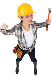 A female construction worker Royalty Free Stock Photo