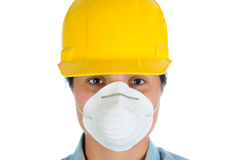 Female Construction Worker Closeup Royalty Free Stock Images