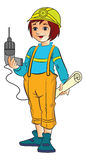 Female Construction Worker, illustration Royalty Free Stock Photos