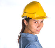Female Construction Worker IV Royalty Free Stock Photos