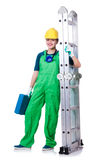 Female construction worker with toolkit Royalty Free Stock Photo