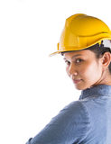 Female Construction Worker VI Stock Photography