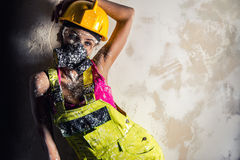 Female construction worker Stock Images