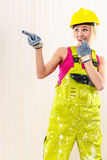 Female construction worker Royalty Free Stock Photo
