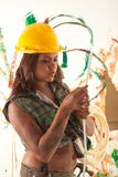 Female constructor Stock Images