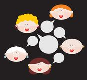 Female conversations. Vector illustration. This is file of EPS8 format stock illustration