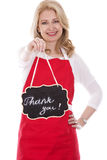 Female cook in apron Royalty Free Stock Images