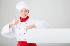 Female cook Stock Image