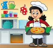Female cook theme image 7 Royalty Free Stock Photo