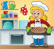 Female cook theme image 9 Royalty Free Stock Photo