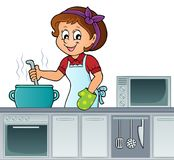 Female cook topic image 2. Eps10 vector illustration stock illustration