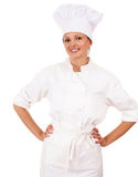 Female cook in uniform Royalty Free Stock Photography