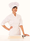 Female cook in uniform Royalty Free Stock Photos