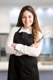 Female Cooker With Apron Smiling Royalty Free Stock Image