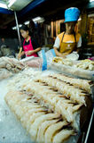 HUAHIN,Thailand:Female cooking. Stock Images