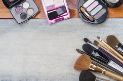 Female cosmetic accessories Royalty Free Stock Image