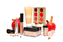 Female cosmetics and accessories, make-up Stock Photography