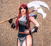 Female cosplayer at the Yorkshire Cosplay Convention Royalty Free Stock Photo