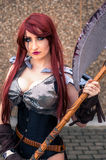 Female cosplayer at the Yorkshire Cosplay Convention Royalty Free Stock Image