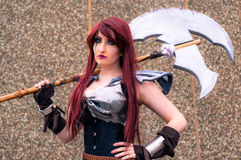 Female cosplayer at the Yorkshire Cosplay Convention Royalty Free Stock Photography