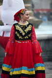 Female costumed performer Royalty Free Stock Photos