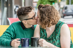 Female couple kissing each other Royalty Free Stock Photography