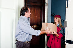 Female Courier Stock Photography