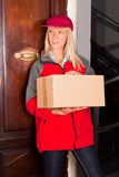 Female Courier Stock Images